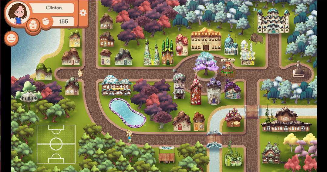 Map view of myPeekaville