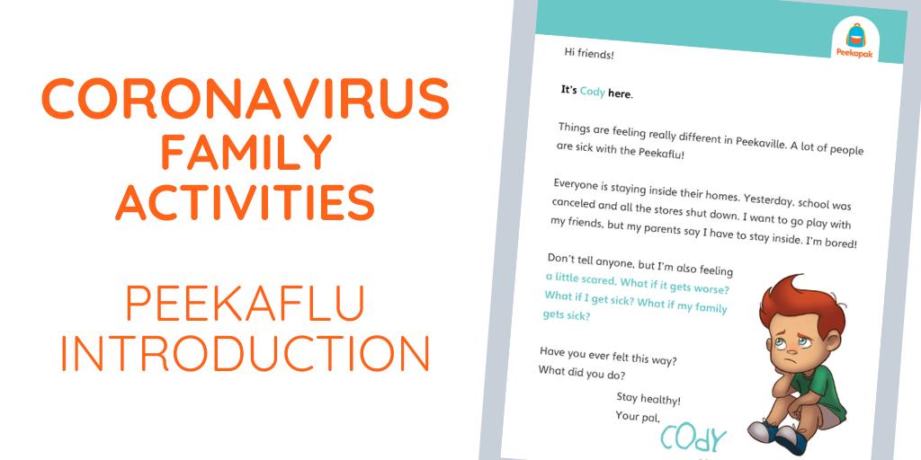 Coronavirus Lesson Plans – Introduction to Peekaville's Peekaflu